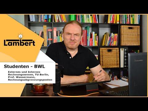 Externes Und Internes Rechnungswesen Tu Berlin Prof Wassermann