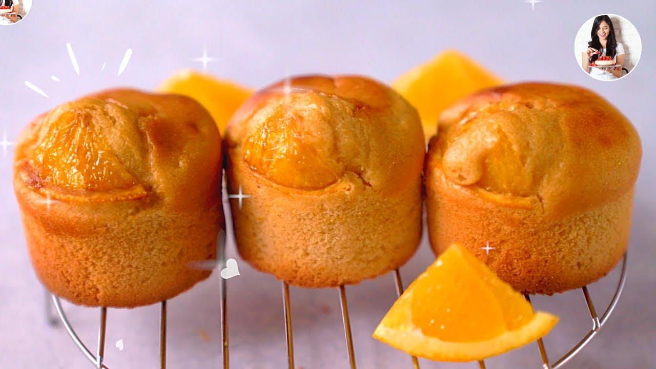 🍊 Muffins integrales de Naranja -SUPER ESPOJOSOS - y sin lácteos!! | Auxy