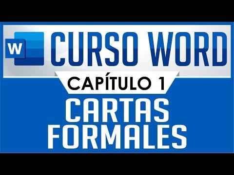 Curso Word - Capitulo 1, Carta sencilla (Formal)