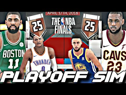 EVERYONE'S A 25 OVERALL IN THE 2018 PLAYOFF SIMUALTION ON NBA2K18!!!