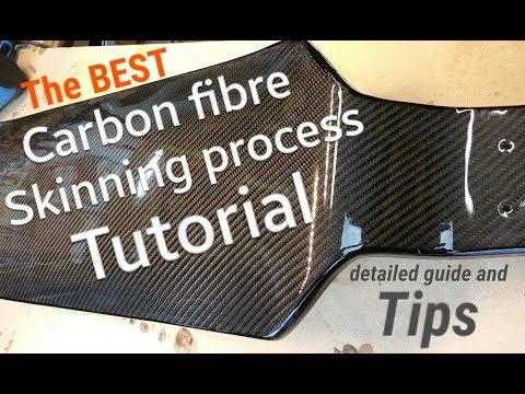 Carbon fiber skinning TUTORIAL. Skateboard deck .