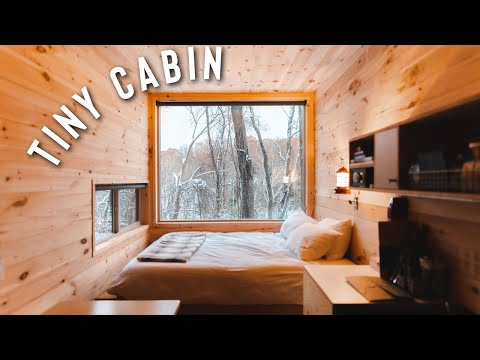 OFF GRID TINY *container* CABIN | GETAWAY CABINS FULL TOUR