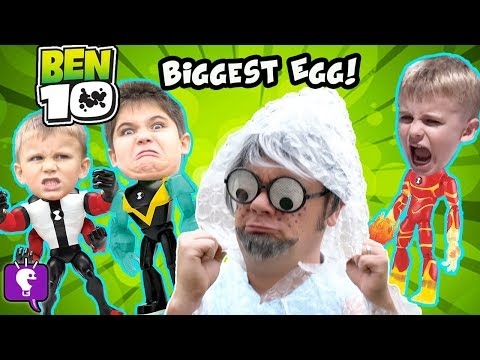 Giant BEN 10 SURPRISE EGG with Mr.Bubble Wrap and His Toy Adventure thumbnail
