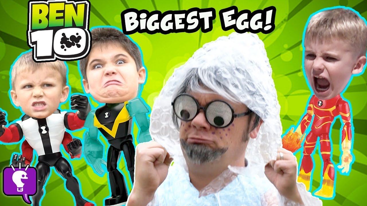 Giant BEN 10 SURPRISE EGG with Mr.Bubble Wrap and His Toy Adventure image