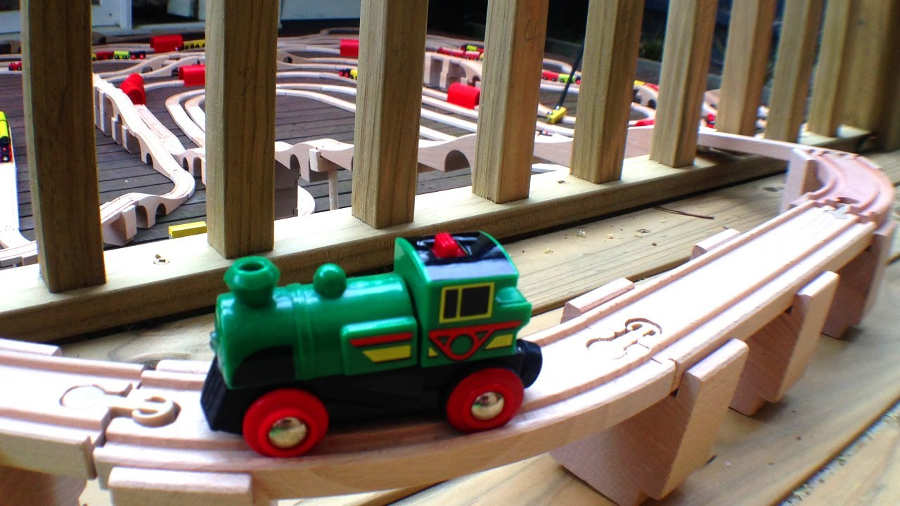 Massive Wooden Toy Train Set - Little Green Brio Engine ...