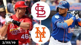 St. Louis Cardinals vs New York Mets Highlights | March 22, 2019 | Spring Training