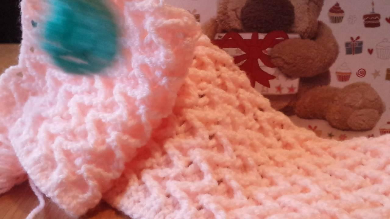 Novo ponto para mantas em croche youtube - Manta de crochet facil ...
