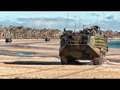 U.S. Marines Land On Australian Beach • Talisman Saber 2017