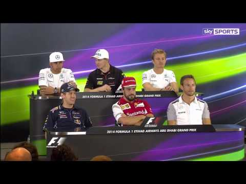 F1 2014 Funny Press Conference in Abu Dhabi GP