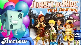 Ticket to Ride: First Journey (Europe) Review - with Tom Vasel