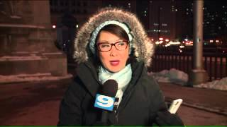 WGN reporter Nancy Loo gives the best cold weather report you`ll ever hear