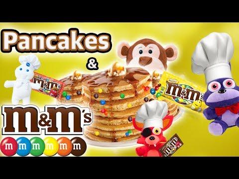 FNAF Plush Episode: Pancakes & M&M's w/ Bonnie, Foxy, Little Jesse & Pillsbury doughboy