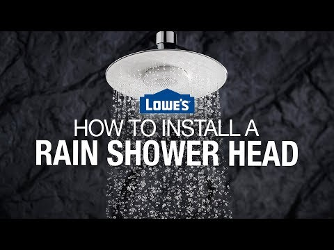 How to Install a Rain Shower Head