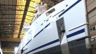 MYS Preview Video: The inside story on fast yacht support vessel Garcon