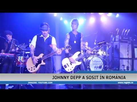 JOHNNY DEPP A SOSIT IN ROMANIA