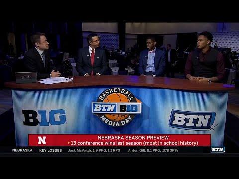 Miles, Watson, Palmer at Media Day  Nebraska   Big Ten Basketball
