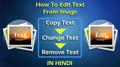 How to Copy, Edit and Remove Text Inside Images | IN HINDI