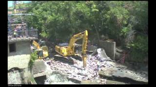 Cuyahoga Falls Time Lapse Dam Removal