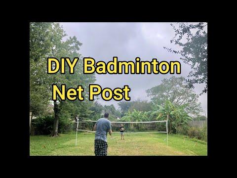 DIY Badminton Net Post | Super Ceci