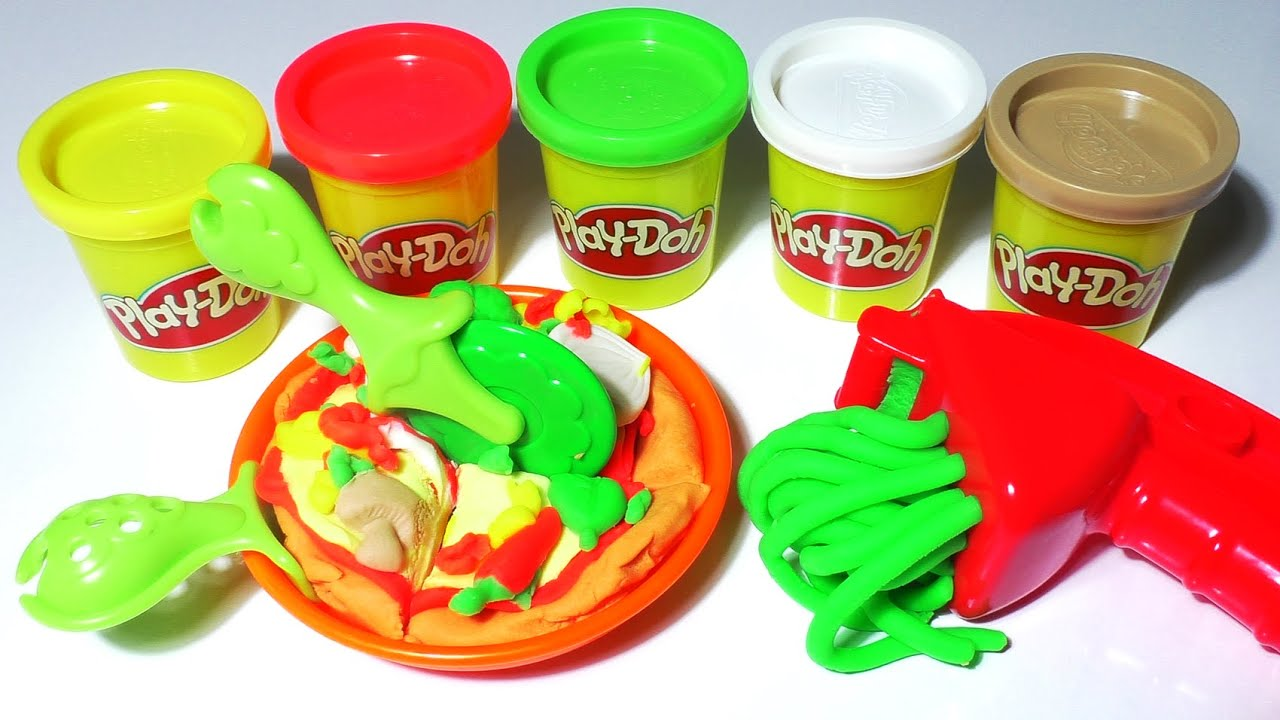 play doh pizza food playdough cooking games kitchen playset doh food kids fun toys youtube. Black Bedroom Furniture Sets. Home Design Ideas