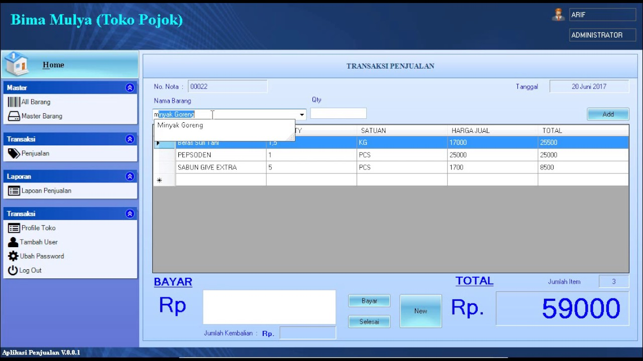 Aplikasi Penjualan Vb Net