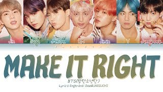 BTS                   - MAKE iT RiGHT  w Ed Sheeran   Color Coded s EngRomHan        Resimi