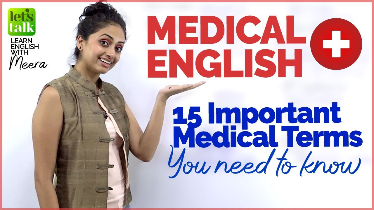 English Medical Vocabulary - Important Medical Terms You Should Know | Learn English Online |  Meera
