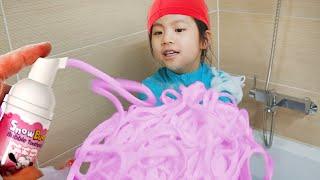 액괴와 목욕놀이?!! 서은이의 스노우버디 목욕놀이 색깔 액체괴물 놀이 비눗방울 장난감 색깔놀이 Colorful Slime and Bubble Bath for Kids