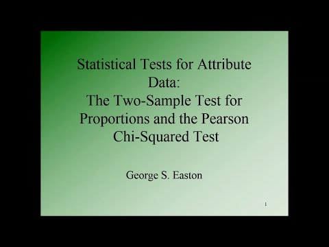 Six Sigma Statistics: Statistical Tests For Attribute Data