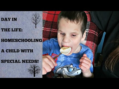 DAY IN THE LIFE- SPECIAL NEEDS HOMESCHOOL!! 🏡