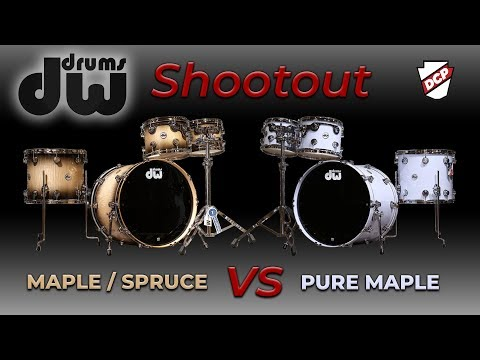 DW Exotic Maple Spruce vs. Pure Maple Drum Set Shootout