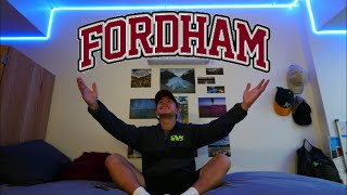My New Home!!! | Fordham Dorm Room Tour | College Dorm in New York