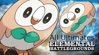 Roblox Elemental Battlegrounds ALL Ultimates Special (Remastered)