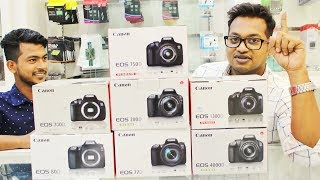 Canon 4000D, 600D, 200D, 700D, 750D, 77D, 80D | All New Canon DSLR Specification in Bangla