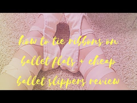 How to ADD RIBBONS TO BALLET SHOES + CHEAP Ballet Flats REVIEW | NicoleTopics