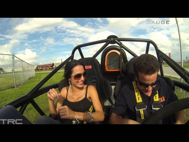 Sexy Dayanis experiences the Ariel Atom! Travel Video