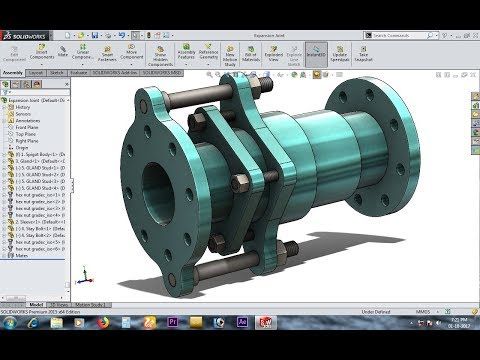 Expansion Joint in Solidworks | Solidworks Tutorial | Mr. Solidworks