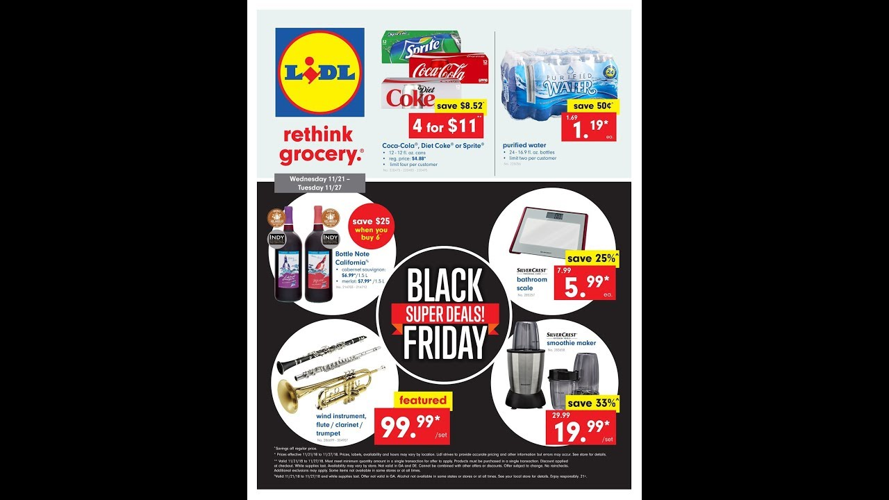 LIDL USA: 21-27 11 2018 WEEKLY AD FLYER & BLACK FRIDAY