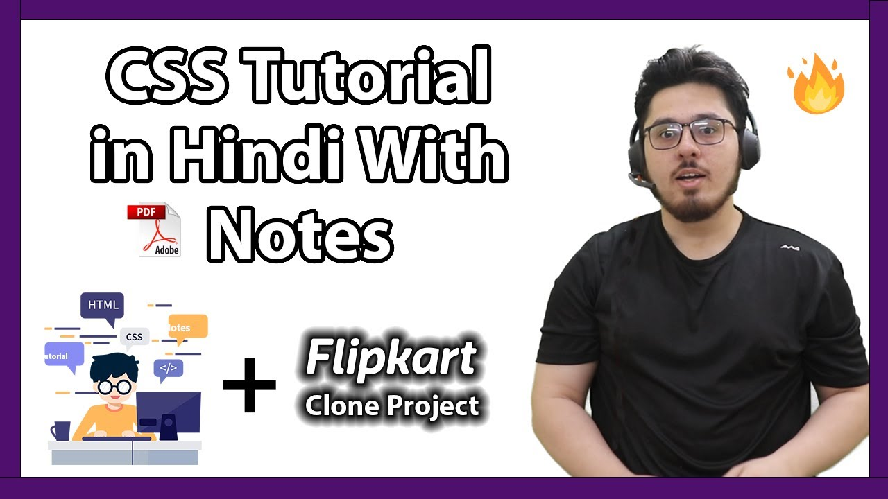 CSS Tutorial In Hindi (With Notes) 🔥