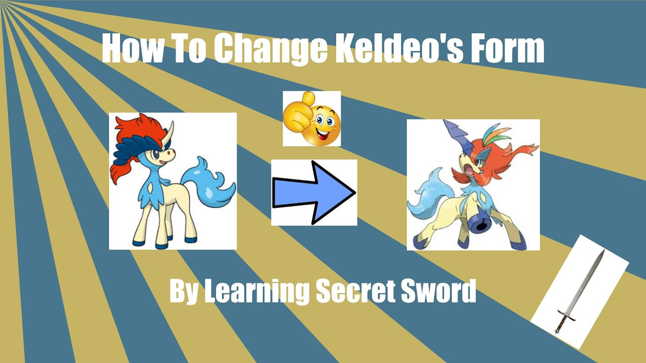 How to get Keldeo other form and learn the move sacred sword - YouTube