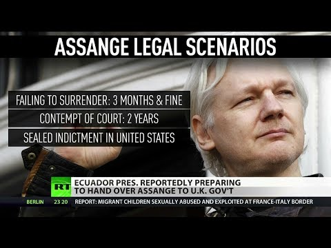 What are Julian Assange\'s options once he leaves Ecuadorian Embassy?