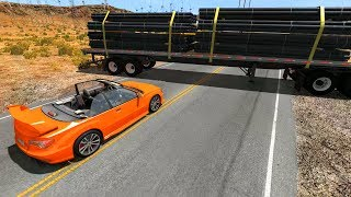Insane Low Clearance High Speed Crashes - BeamNG.Drive