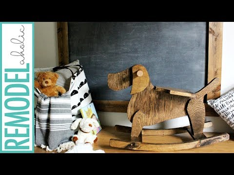 A New Twist on a Childhood Favorite! DIY Handmade Rocking Toy Dog