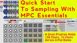 how to sample in mpc essentials chop create a program of a sample with mpc element fl studio 12