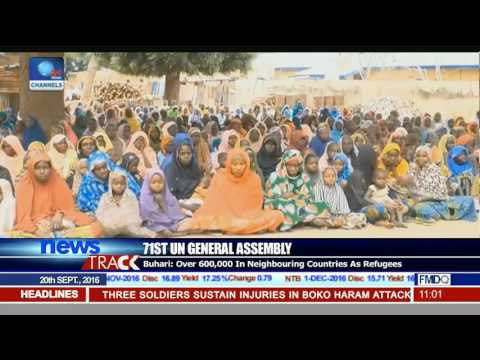 71st UN General Assembly: Buhari Says Over 600,000 In Neighbouring Counries Are Refugees
