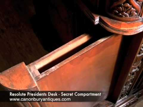 Resolute Presidents Desk - Secret Compartment