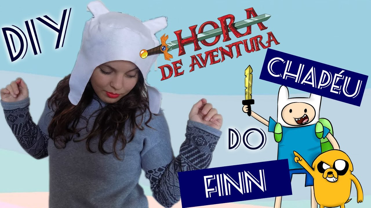 DIY    Touca do Finn - Hora de Aventura (Adventure Time) - YouTube 2ae2821b51c