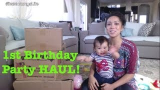 First Birthday Party Planning Open Box haul - itsMommysLife