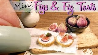 How To Mini Figs & Fig Tart Tutorial // DIY Miniature Food // www.SugarCharmShop.dk