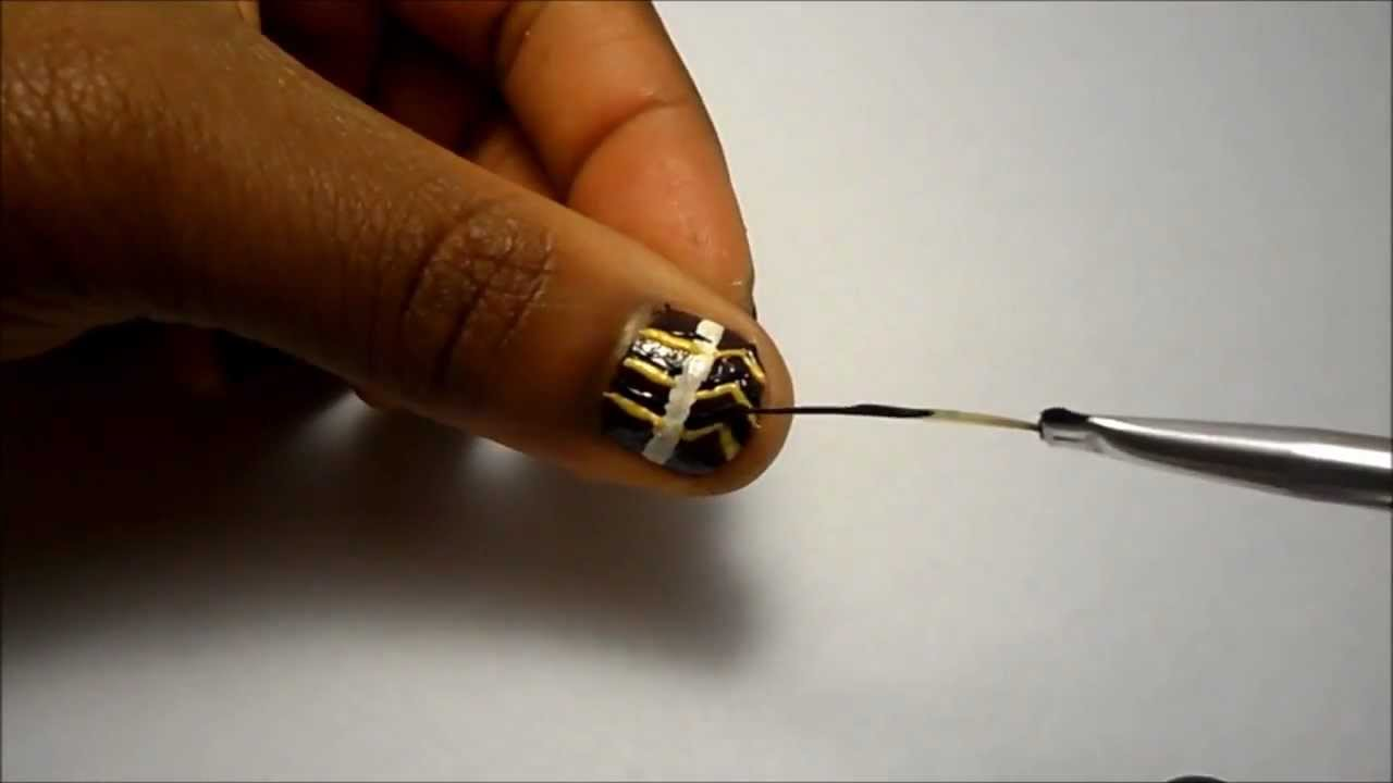 African nail art tutorial youtube african nail art tutorial prinsesfo Images